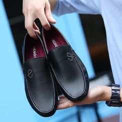 BINSHOU - Faux Leather Loafers