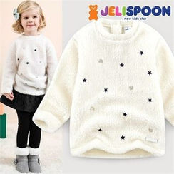 JELISPOON - Girls Star Patterned Fleece Top