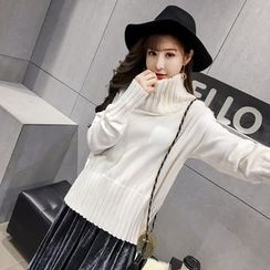 Honeydew - Plain Mock Neck Sweater