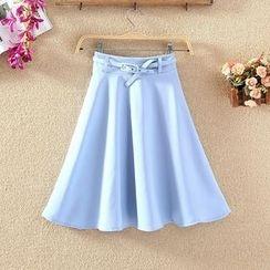 elina sea - A-Line Skirt with Belt