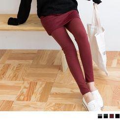 OrangeBear - Inset Geo-Quilted Skirt Leggings