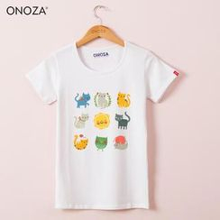 Onoza - Short-Sleeve Cartoon-Print T-Shirt