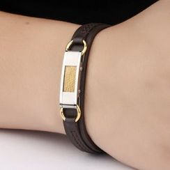 Andante - Faux Leather Bangle