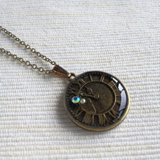 MyLittleThing - Copper Clock Necklace