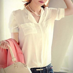 Q.C.T - Short-Sleeved Blouse