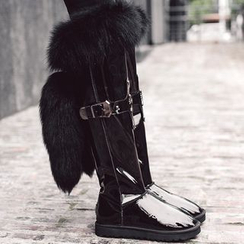 JY Shoes - Furry Over The Knee Boots