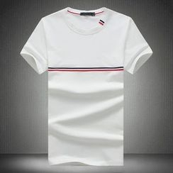 T for TOP - Stripe Short-Sleeve T-Shirt