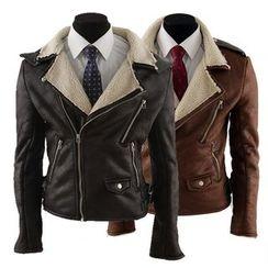 Hansel - Faux Leather Biker Jacket