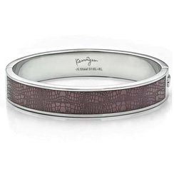 Kenny & co. - Leather Pattern Sculp Bangle(L)