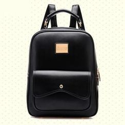 Miss Sweety - Faux-Leather Backpack