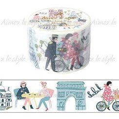 Aimez le style - Aimez le style Masking Tape Primaute Wide Bonjour Champs Elysees