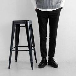 Seoul Homme - Flat-Front Slim-Fit Pants