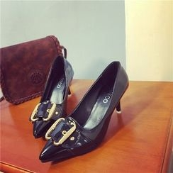 Micha - Buckled Pointed Pumps