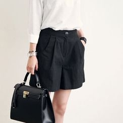 NANING9 - Pleat-Front Shorts