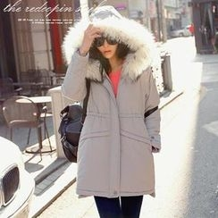REDOPIN - Faux-Fur Hooded Padded Coat