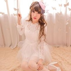 Candy Rain - Lace Long Sleeve Dress