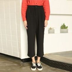 Morever - Wide-Leg Cropped Pants