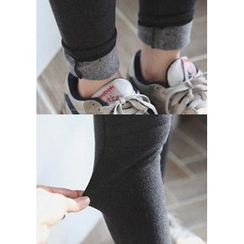GOROKE - Quilted Knee Brushed-Fleece Lined Leggings