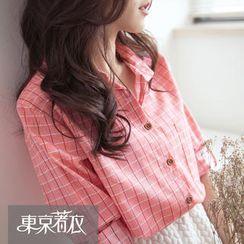 Tokyo Fashion - Tab-Sleeve Check Shirt