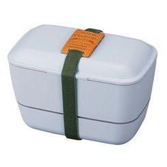 Hakoya - Hakoya American Vintage Dome 2 Layer Lunch Box (Grey)