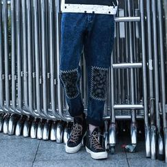 Mys Homme - Printed Straight-Leg Jeans