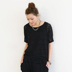 SO Central - Lace Short-Sleeve Top