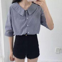 MePanda - High-waist Denim Shorts