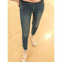 LOLOten - Brushed-Fleece Lined Slim-Fit Jeans