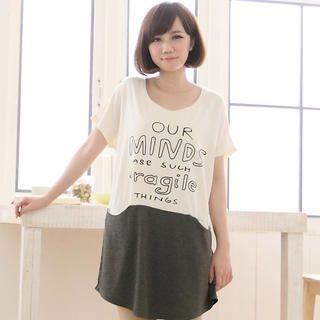 CatWorld - Color-Block Printed T-Shirt Dress