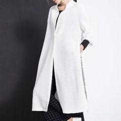 Halona - 3/4-Sleeve Fringed Long Jacket