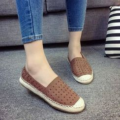 BAYO - Studded Canvas Slip Ons