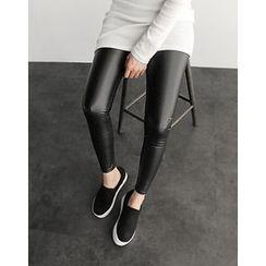 UPTOWNHOLIC - Faux-Leather Leggings