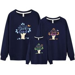 Panna Cotta - Family Matching Tree Print Pullover
