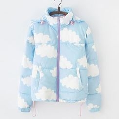 ninna nanna - Cloud Print Hooded Padded Jacket
