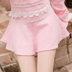 Candy Rain - Textured A-Line Skirt