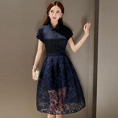 Romantica - Set: Shirt + Lace A-Line Skirt