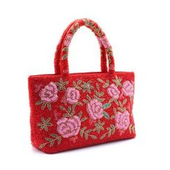 Glam Cham - Floral Embroidered Shopper Bag