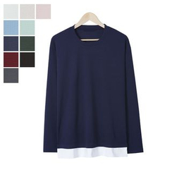 DANGOON - Layered-Hem Colored T-Shirt