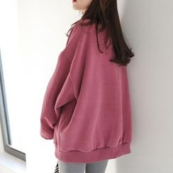 PPGIRL - Mock-Neck Loose-Fit Pullover