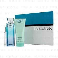 Calvin Klein 卡爾文克來恩 - Eternity Aqua Coffret: Eau De Parfum Spray 100ml/3.4oz + Body Lotion 200ml/6.7oz + Eau De Parfum Rollerball 10ml/0.33oz