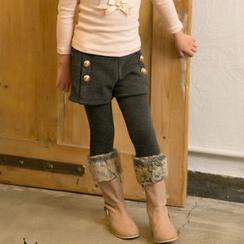 Cuckoo - Kids Inset Shorts Leggings