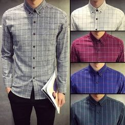 Chuoku - Slim-Fit Long-Sleeve Shirt