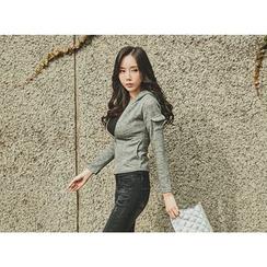 UUZONE - Hooded Knit Jacket