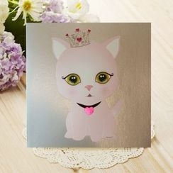 Full House - euneunart - Cat Greeting Card
