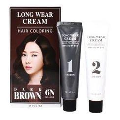 Missha - Long Wear Cream Hair Coloring (#6N Dark Brown)