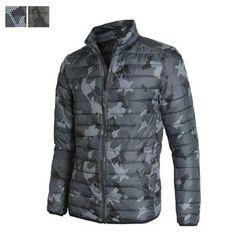 DANGOON - Camouflage Zip-Up Padded Jacket