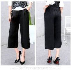 Jenny's Couture - Cropped Wide Leg Pants