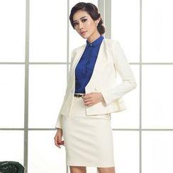 艾尚臣 - 荷葉腰外套 / 襯衫 / 短裙 / 套裝