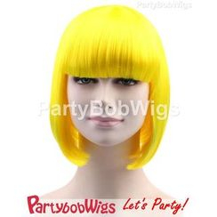 Party Wigs - PartyBobWigs - Party Short Bob Wigs - Neon Yellow