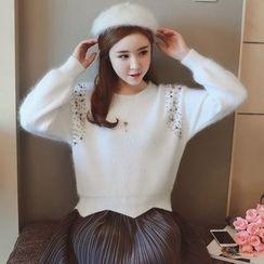 Munai - Beaded Sweater